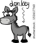 set of cute cartoon donkey | Shutterstock .eps vector #152617760