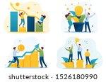 set flat 2d concepts grown an... | Shutterstock .eps vector #1526180990