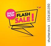 vector illustration flash sale  ... | Shutterstock .eps vector #1526181350