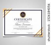 elegant blue and gold diploma... | Shutterstock .eps vector #1526184056