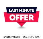 vector illustration last minute ... | Shutterstock .eps vector #1526192426