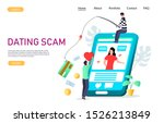 dating scam vector website... | Shutterstock .eps vector #1526213849