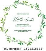 handwritten text of hello santa ... | Shutterstock .eps vector #1526215883