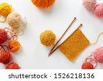 Knitting Project In Progress. A ...