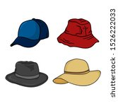 hat icon isolated white... | Shutterstock .eps vector #1526222033