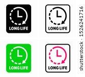 long life  life time  symbol | Shutterstock .eps vector #1526241716