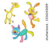 kids toys. three funny toys... | Shutterstock .eps vector #1526243009