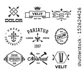 vintage labels with anchor ... | Shutterstock .eps vector #152624426