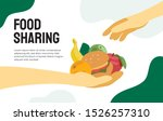 food sharing project. vector... | Shutterstock .eps vector #1526257310