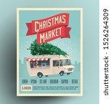 christmas market fair... | Shutterstock .eps vector #1526264309