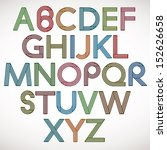 retro style alphabet  striped... | Shutterstock .eps vector #152626658