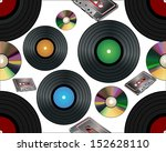 seamless background with vinyl... | Shutterstock . vector #152628110