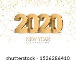 vector text design 2020. gold... | Shutterstock .eps vector #1526286410