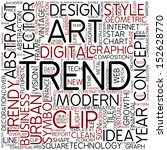word cloud   trend | Shutterstock . vector #152628770