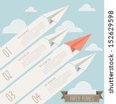 paper plane label   Shutterstock .eps vector #152629598
