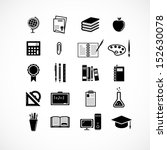 education and school icons | Shutterstock .eps vector #152630078