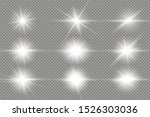 white glowing light explodes on ... | Shutterstock .eps vector #1526303036