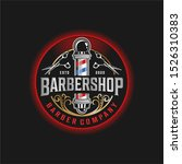 barbershop logo vintage classic ...   Shutterstock .eps vector #1526310383