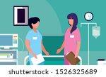 female medicine workers in... | Shutterstock .eps vector #1526325689