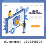 data protection concept... | Shutterstock .eps vector #1526348906
