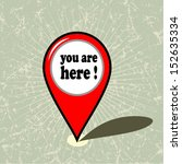 you are here vector design  | Shutterstock .eps vector #152635334