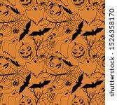 Seamless Pattern Halloween Line ...