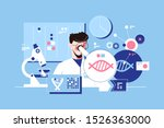 man scientist in laboratory... | Shutterstock .eps vector #1526363000