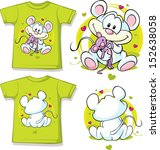 kid shirt with cute mouse... | Shutterstock .eps vector #152638058