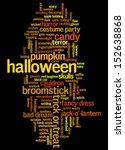 Halloween Word Cloud Vector On...