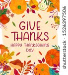 happy thanksgiving day poster... | Shutterstock .eps vector #1526397506