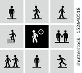 people walking | Shutterstock .eps vector #152640518