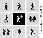 Stock vector people walking 152640518