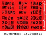 happy new year 2020. vector... | Shutterstock .eps vector #1526408513