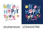 Typography Slogan With Cute...