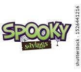 spooky savings event banner...   Shutterstock .eps vector #1526441216