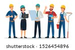 technician workers and... | Shutterstock .eps vector #1526454896