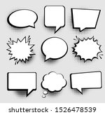 speech or thought bubbles.... | Shutterstock .eps vector #1526478539