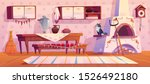 old russian kitchen interior... | Shutterstock .eps vector #1526492180