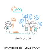 stock brokers buy stocks | Shutterstock .eps vector #152649704