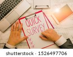 writing note showing quick... | Shutterstock . vector #1526497706