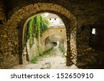 stone corridor to an ancient...