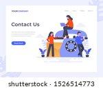 contact us flat vector...