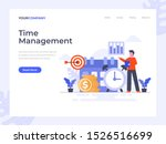 time management flat vector...