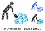 person mining euro mosaic for... | Shutterstock .eps vector #1526518520