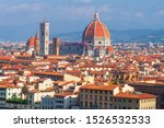 Stock photo firenze cityscape florence and duomo santa maria del fiore and bargello florence tuscany italy 1526532533