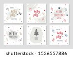 christmas square winter holiday ... | Shutterstock .eps vector #1526557886