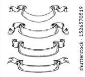 ribbons banners vector set. eps ...   Shutterstock .eps vector #1526570519