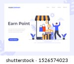 earn point flat vector...