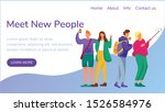 meet new people landing page...