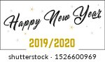 happy new year wishes for 2019... | Shutterstock .eps vector #1526600969